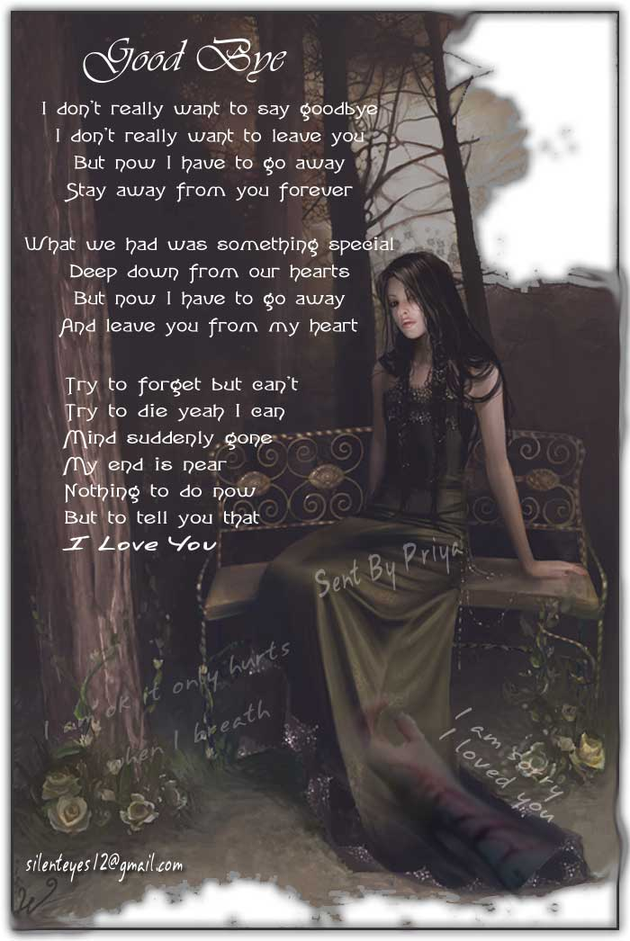 gallery for sad goodbye poems for her