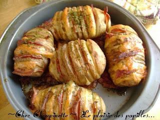le plaisir des papilles pommes de terre papillon cheddar bacon. Black Bedroom Furniture Sets. Home Design Ideas