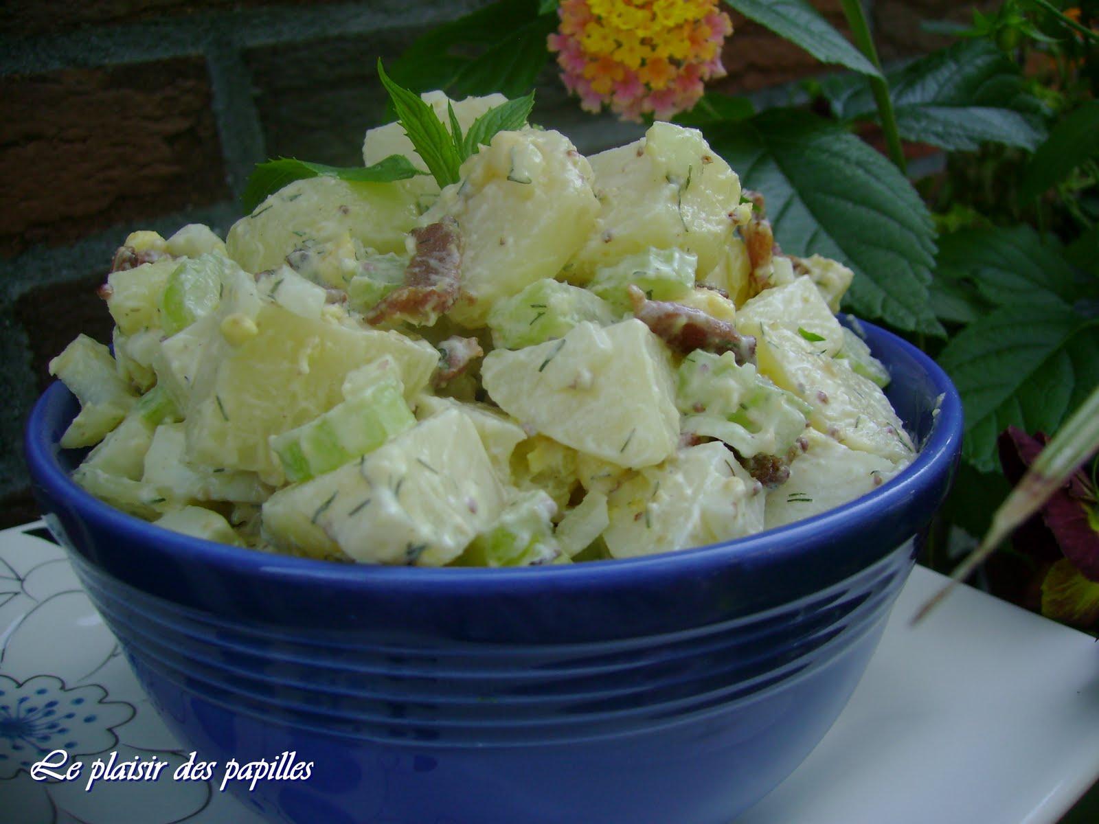 le plaisir des papilles salade de pommes de terre l. Black Bedroom Furniture Sets. Home Design Ideas