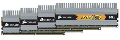 Corsair Q2X8G6400C4DHX Low-latency 8GB DDR2 quad Kit