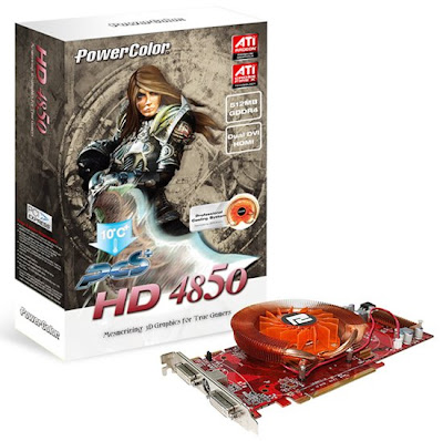 PowerColor Radeon HD4850 PCS+ D4 - 512MB GDDR4 ATI RADEON RV770