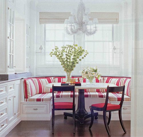 Jpm design banquette seating for Built in kitchen seating ideas