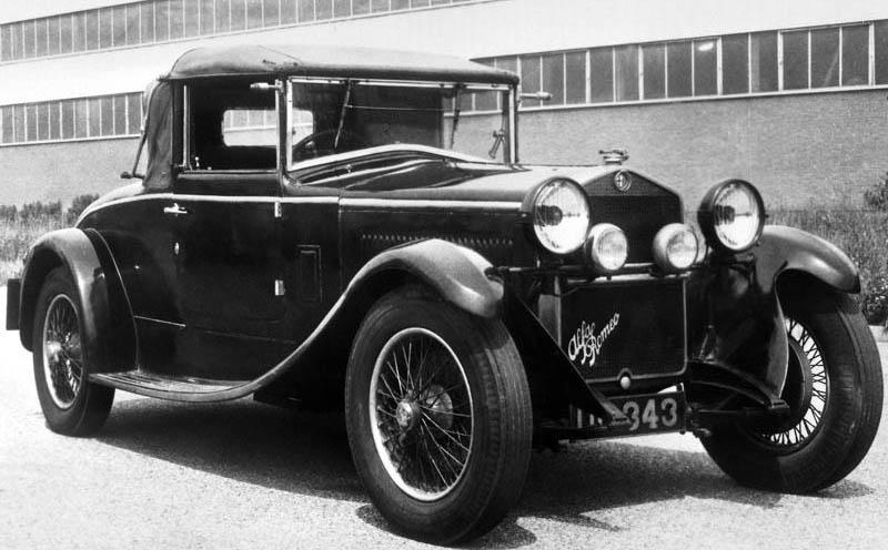 1925 Alfa Romeo P2. Alfa Romeo 6C 1500 Sport, 1928