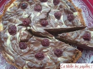 cheesecake chocolat cerises ça titille les papilles