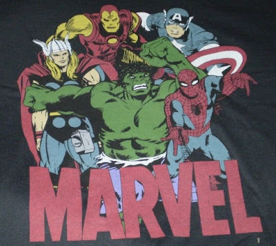 Close up of the Marvel t-shirt