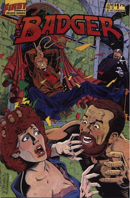cover of The Badger #12 from First Comics