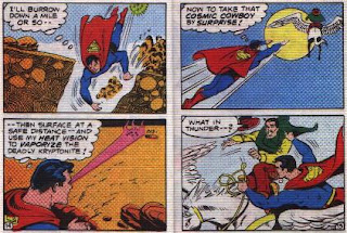 Super in Terra-Man's Skyway Robbery pages 14 and 15