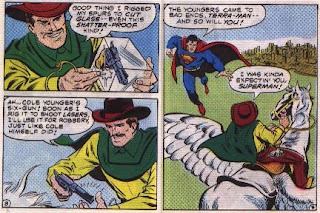 Super in Terra-Man's Skyway Robbery pages 8 and 9