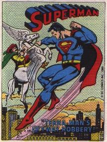 Cover of Superman in Terra-Man's Skyway Robbery mini comic