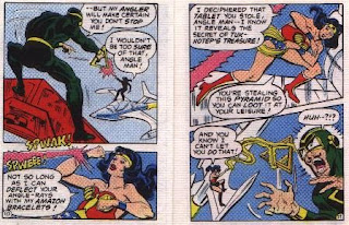 Wonder Woman in The Angle Menace mini comic pages 10 and 11