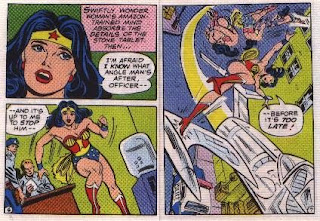 Wonder Woman in The Angle Menace mini comic pages 6 and 7