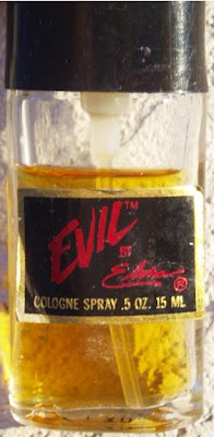 close up of Evil by Elvira cologne