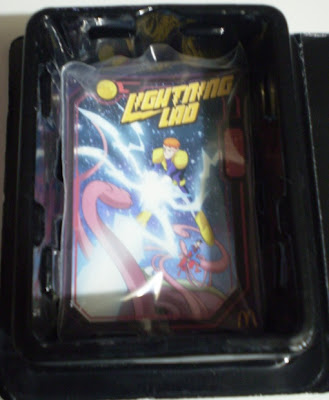 inside right of McDonald's Lightning Lad toy box