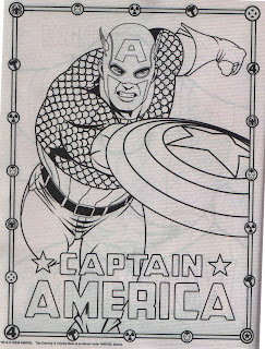 Captain America from Marvel Heroes Jumbo Coloring & Activity Book