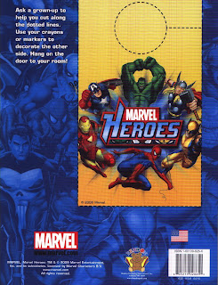 back cover of Marvel Heroes Jumbo Coloring & Activity Book