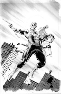 Black and white Amazing Spider-Man #646 cover artwork by Mike Mayhew