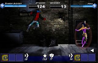 Part three of Shadow Avenger vs Xena in Superhero City