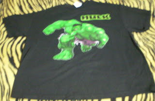 Black hulk t-shirt