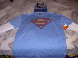 Superman beanie and shirt combo