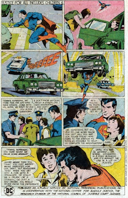 Superman in Justice For All Includes Children 6 public service ad