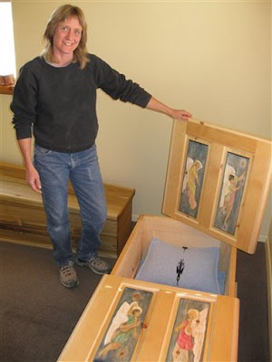 PETA all-wood Human Coffins