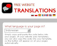 Pasang Web Translator di Blog