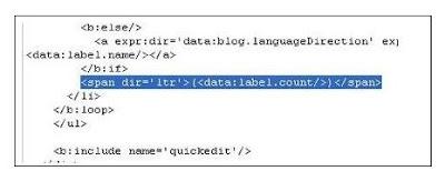 Cara Menghilangkan Angka Pada Label di Blog