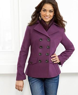 Woolen Poncho Top Wool Sweater With Hood Purple Winter Wear Clothing One Size Deal