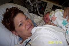 Afton and I after her birth
