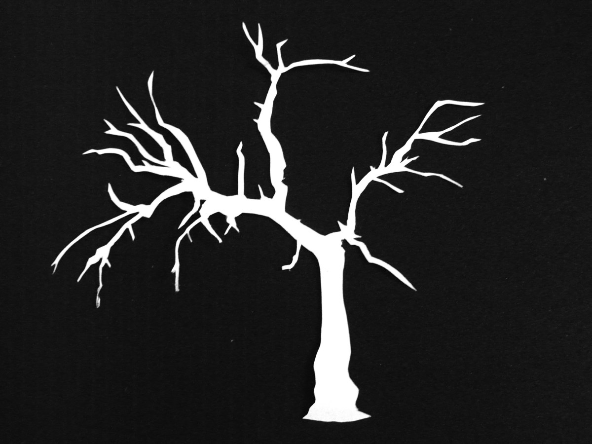 Bewitching image in tree stencil printable