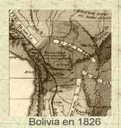 MAPA DE  BOLIVIA, 1826.Mapa © © Atlas Lesoge™Clic para agrandar