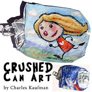 Crushed Can Art,charles kaufman,Upcycle