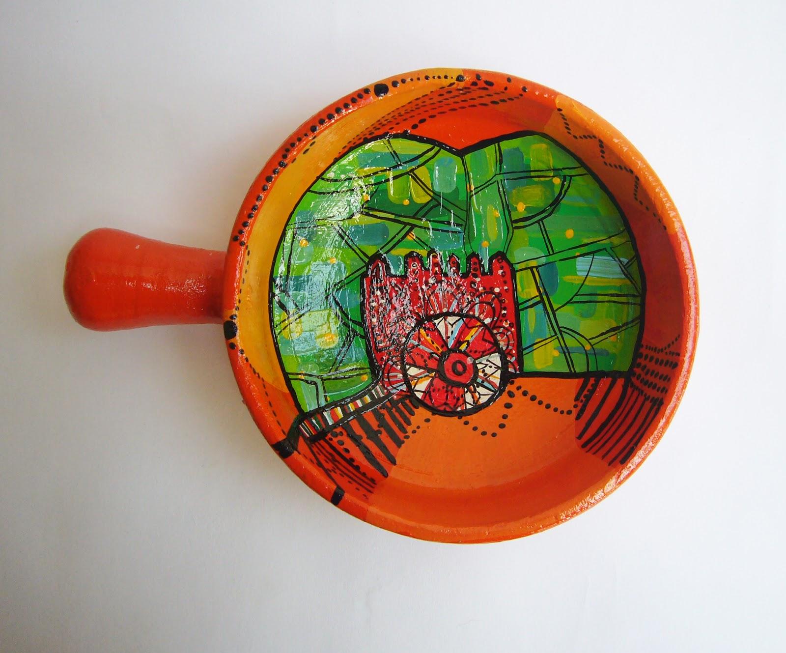Tapir arts craft sartenes de cer mica decoraci n - Ceramica decoracion ...