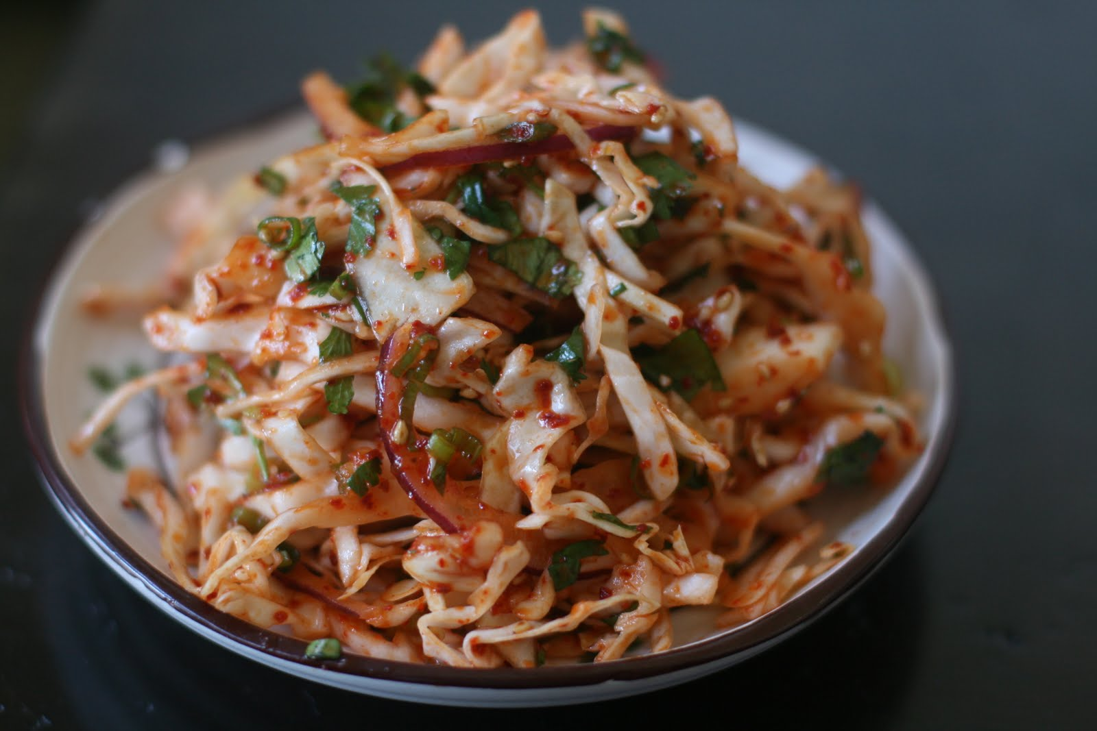 Korean Style Spicy Slaw: Preparing to turn 40....
