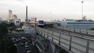 Skytrain near Victory Monument, Bangkok