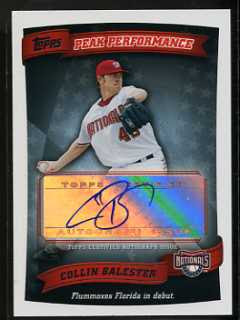 2010 Topps Collin Peak Performance Balester Auto