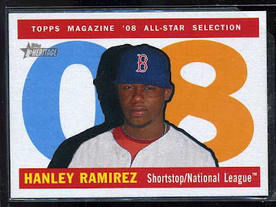 2009 Topps Heritage Hanley Ramirez Variation with Red Sox uniform