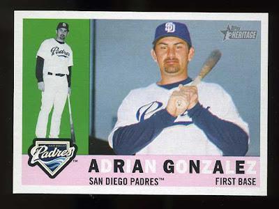 2009 Topps Heritage Adrian Gonzalez Base Card