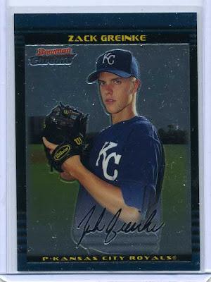 2002 Bowman Chrome Zack Greinke Rookie