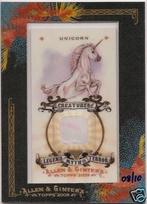 2009 Allen & Ginter Unicorn Relic Front