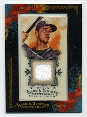 2009 Allen & Ginter Ryan Braun Game Uses Jersey