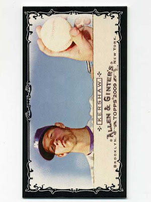 2009 Allen & Ginter Black Border Mini Clayton Kershaw