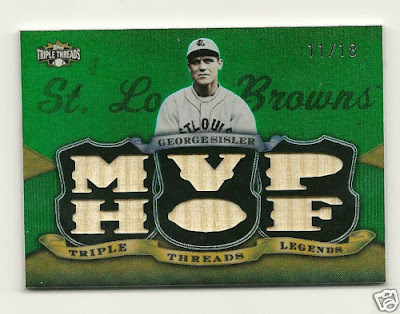 2009 Topps Triple Threads George Sisler Game Used Bat