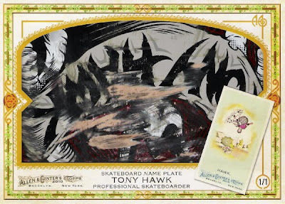 2010 Allen & Ginter Tony Hawk Skateboard Nameplate