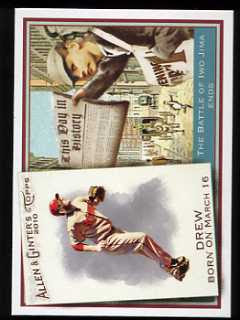 2010 Allen and Ginter Stephen Drew/Battle of Iwo Jima