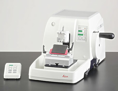 below is a picture of the rotary microtome used for microtomy