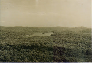 View of Lake Kinnelon from the Smoke Rise Tower before Smoke Rise was developed
