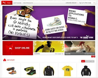 Puma home page