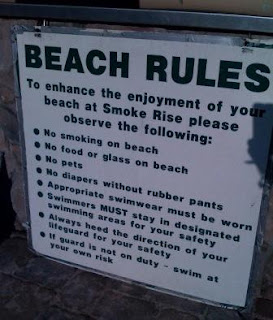 Smoke Rise Beach Rules