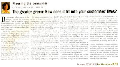 The Greater Green:  How Does It Fit Into Your Customers' Lives?